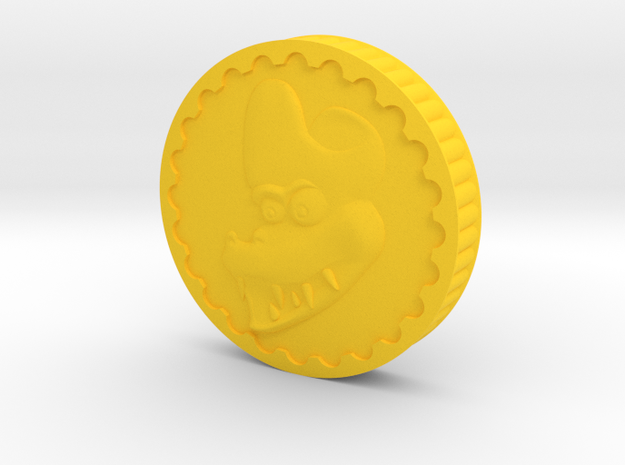 Crocodile Dubloon (A) in Yellow Processed Versatile Plastic