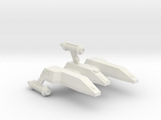 3125 Scale LDR Escort War Cruiser CVN in White Natural Versatile Plastic