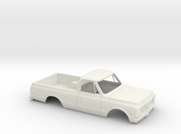 1/16 1970-72  Chevy C-Series Short Bed Kit in White Natural Versatile Plastic