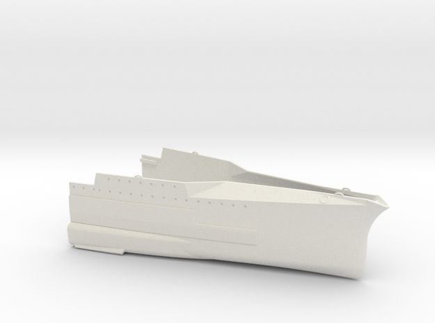 1/350 1919 US Small Battleship Design A7 Bow in White Natural Versatile Plastic