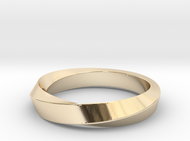 iRiffle Mobius Narrow Ring I(Size 13) in 14K Yellow Gold