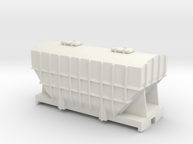 009 gauge Pressflow Wagon in White Natural Versatile Plastic