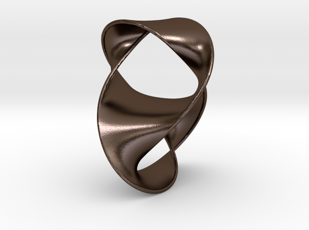Figure 8 Knot with Seifert Surface in Polished Bronze Steel