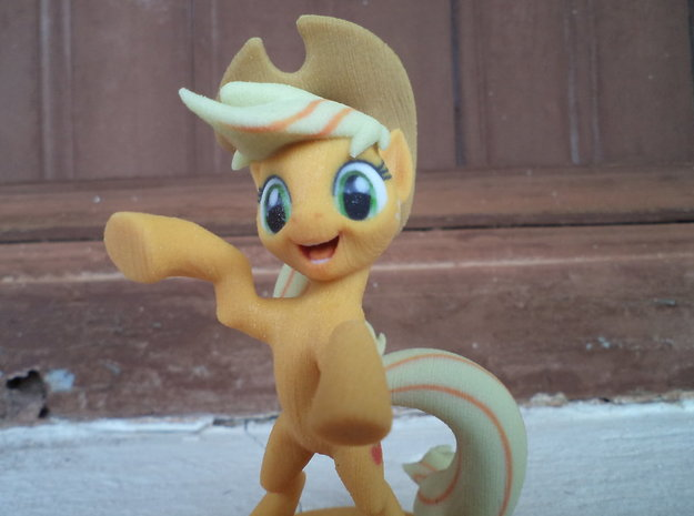 My Little Pony - AppleJack (≈85mm tall) 3d printed apple