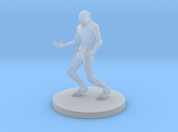 Mid-transformation Lycanthrope in Smooth Fine Detail Plastic