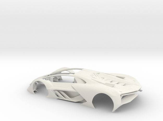 1:32 LTM Body (for LTM Slot Car model) in White Natural Versatile Plastic