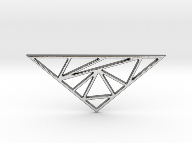 Triangle Statement Pendant in Polished Silver