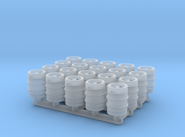 Beer Barrel. 1:72 Scale  in Smooth Fine Detail Plastic