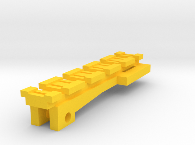 Top Tactical Rail for Nerf Zombie Strike NailBiter in Yellow Processed Versatile Plastic