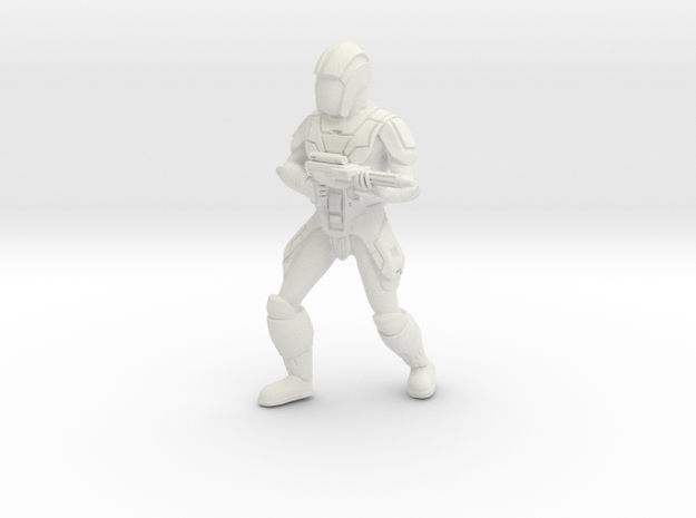 Sith Trooper with Carbine 2 in White Natural Versatile Plastic