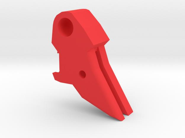 Deranged PPQ flat trigger in Red Processed Versatile Plastic