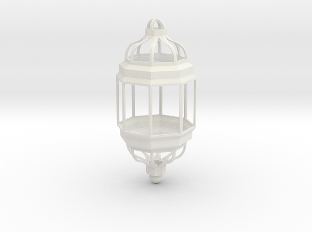 Moroccan Pendant Light in White Natural Versatile Plastic
