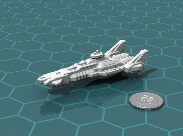 Union Battleship in White Natural Versatile Plastic