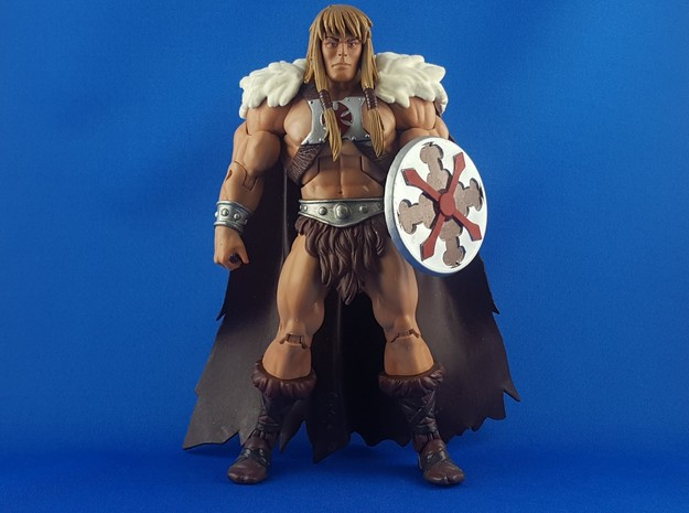 Sideshow He-man Shield in Smooth Fine Detail Plastic