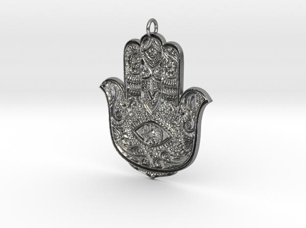 Hamsa in Natural Silver