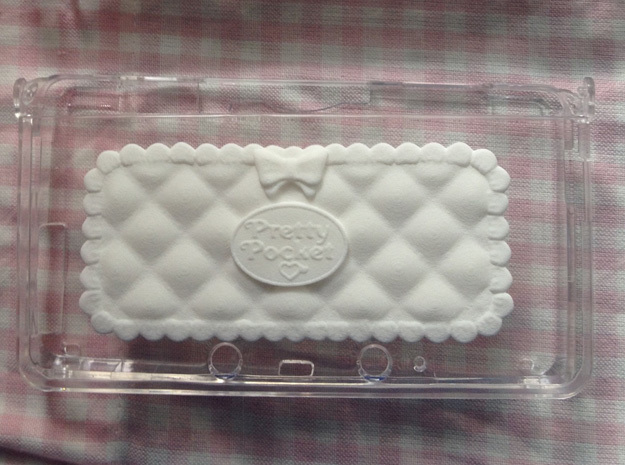 Pretty Pocket Decoration for 3DS in White Natural Versatile Plastic