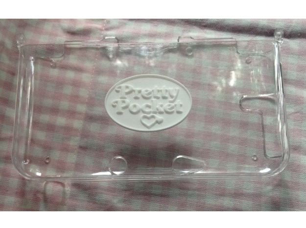 Pretty Pocket Logo Only in White Processed Versatile Plastic