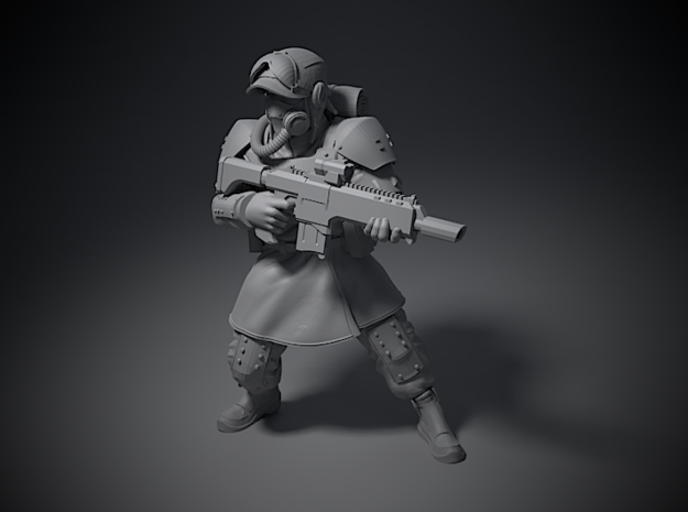 Guardsmen - B in Smoothest Fine Detail Plastic