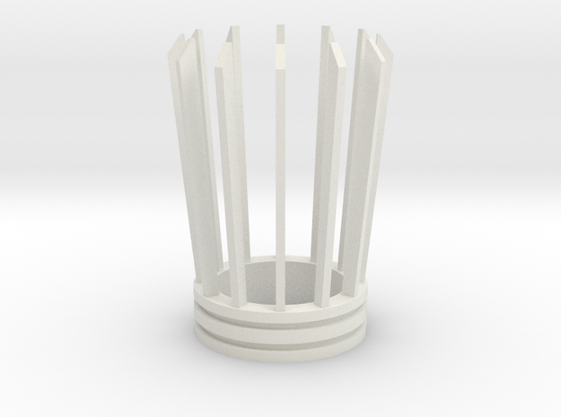 Darth Maul Emitter(3) in White Natural Versatile Plastic