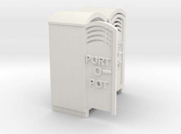 PORTOPOT   in White Natural Versatile Plastic