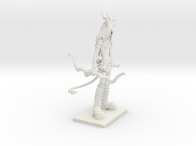 Fantasy Figures 20 - Tiefling in White Natural Versatile Plastic