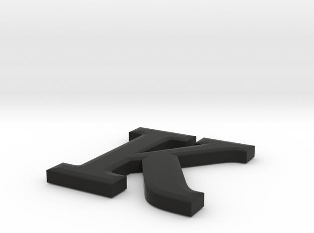K Paper Weight in Black Premium Versatile Plastic