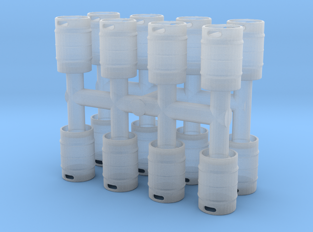 Beer Keg (16 pieces) 1/76 in Smooth Fine Detail Plastic