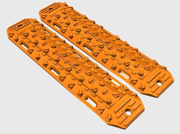 Ultimate Sandtracks by BoostOrDie (Double set) in Orange Processed Versatile Plastic: 1:10