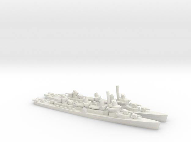US Fletcher-class Destroyer (x2) in White Natural Versatile Plastic