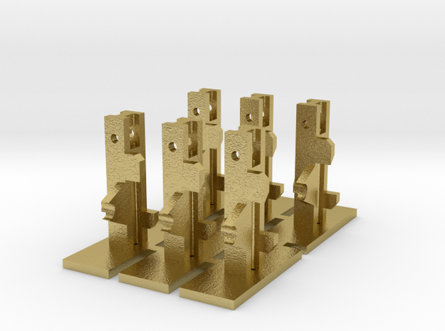 Westinghouse Ground SIgnal Base x6 in Natural Brass: 1:76.2