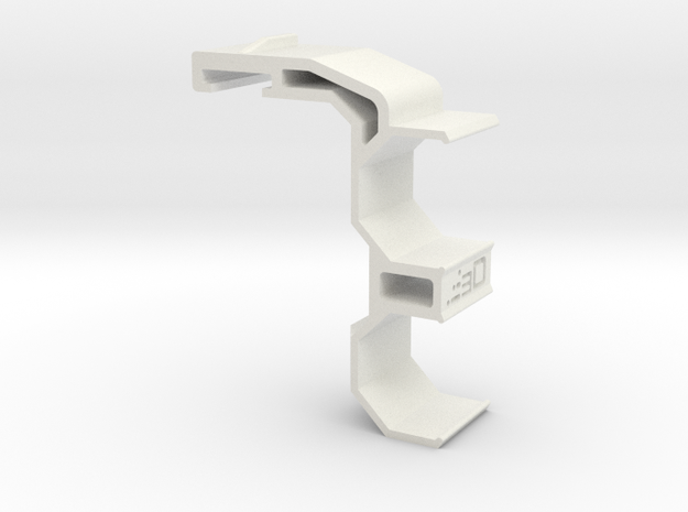 Single-Sided SpeedLoader Carrier for Nerf Kronos in White Natural Versatile Plastic