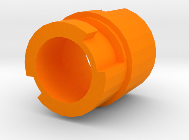 Modulus Muzzle Adapter for Nerf RevReaper in Orange Processed Versatile Plastic
