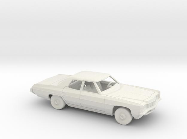 1/25 1971 Chevrolet Impala Sedan Kit in White Natural Versatile Plastic