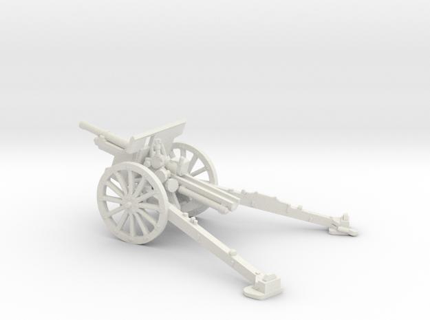 1/87 IJA Type 91 105mm Howitzer in White Natural Versatile Plastic