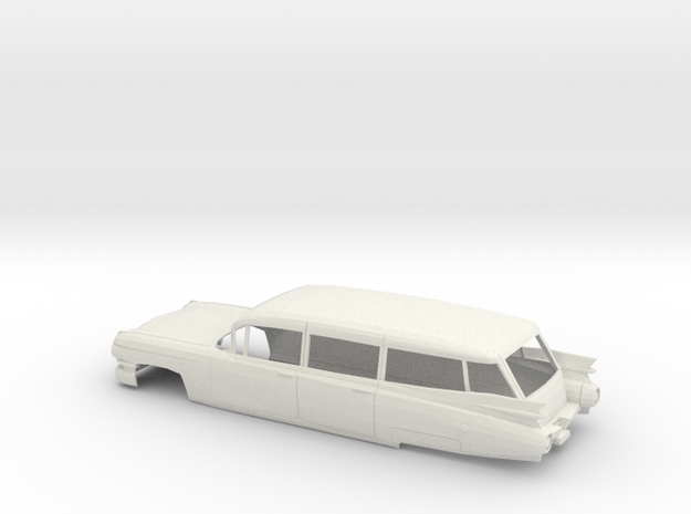 1/16 1959 Cadillac Station Wagon Shell in White Natural Versatile Plastic