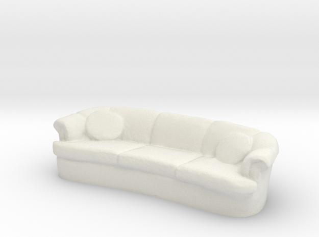Sofa 1/56 in White Natural Versatile Plastic