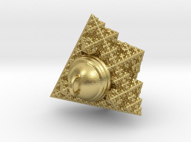 fractal pendant (1.69cm) in Natural Brass