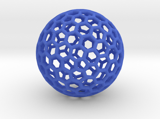 Bucky Sphere in Blue Processed Versatile Plastic