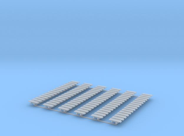 Kette 3 steg 16 mm Breite, 5mm Turasbreite, 96 Ket in Smooth Fine Detail Plastic