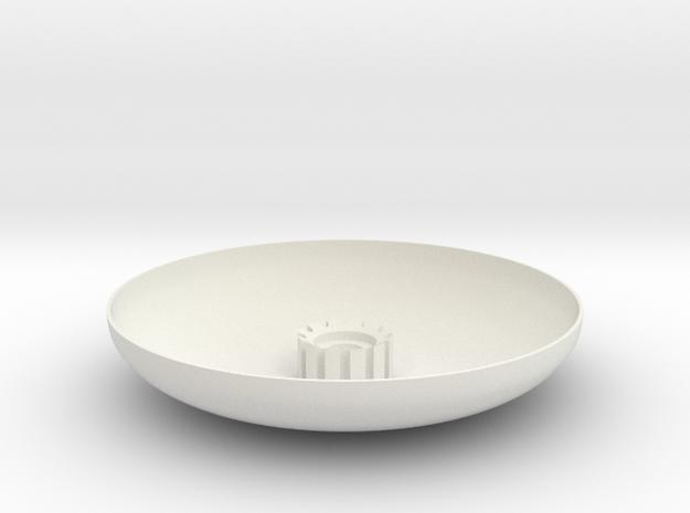 02-Landing Pad in White Natural Versatile Plastic