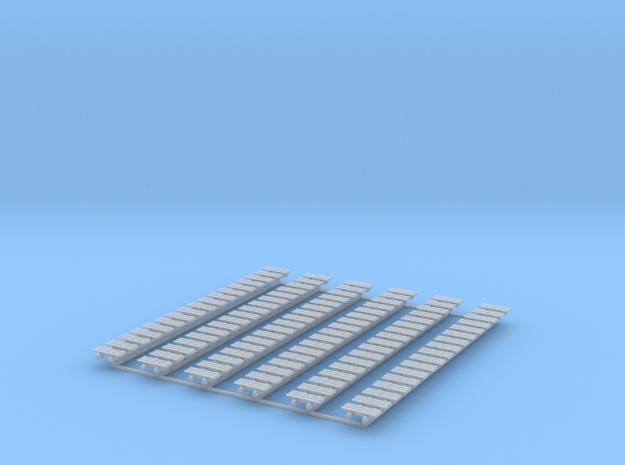 Kette 3 steg 12mm Breite, Turasinnenbreite 4,5mm in Smooth Fine Detail Plastic