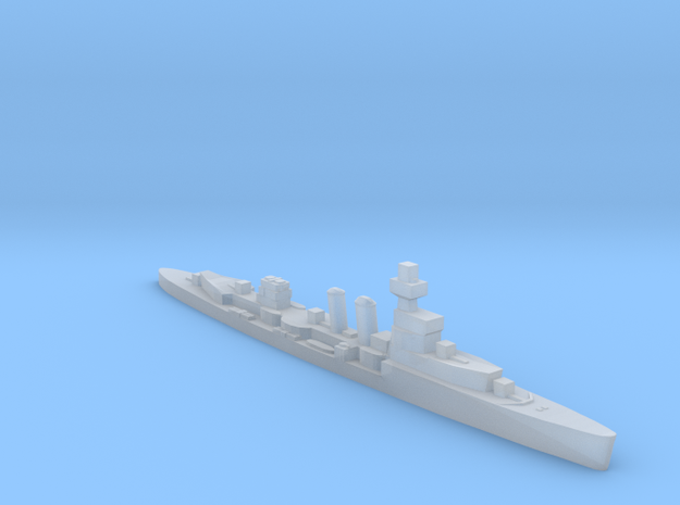HMS Curlew 1939 1:3000 WW2 cruiser in Smoothest Fine Detail Plastic
