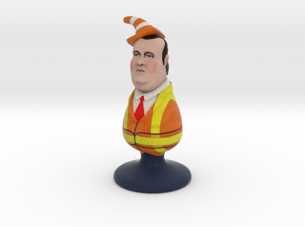 Chris Christie the Homophobic Bridgegate Plug in Full Color Sandstone