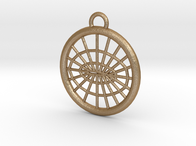 Meshed Airfoil Pendant 3d printed