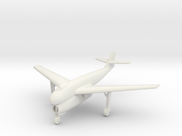 (1:144) Blohm&Voss BV P198.01 Swept wing Gear down in White Natural Versatile Plastic