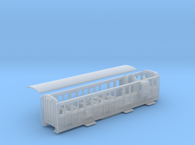 Ffestiniog Rly 3rd/brake coach NO.12 in Smooth Fine Detail Plastic