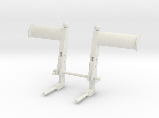 EC135/145 Pedals 1/6 in White Natural Versatile Plastic