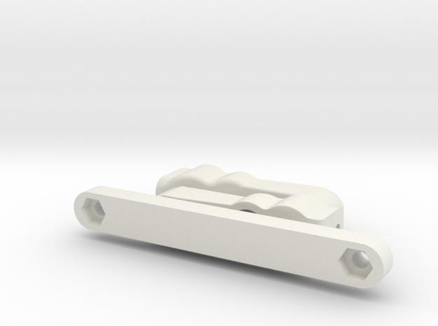 Tamiya Terra Scorcher Bearing Steering Set in White Natural Versatile Plastic