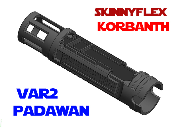 Korbanth SkinnyFlex - Padawan Chassis Var2 in White Natural Versatile Plastic