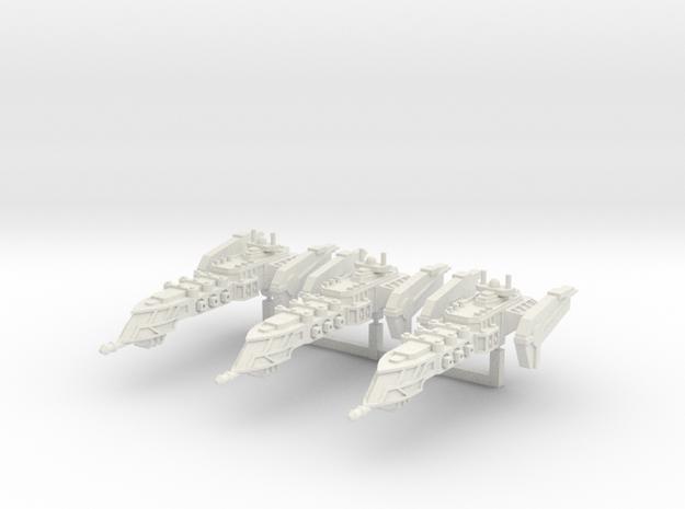 Typhoon Class Frigate squadron in White Natural Versatile Plastic